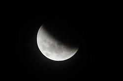 January 21, 2019 - BrasíLia, Brazil - BRASÍLIA, DF - 21.01.2019: ECLIPSE LUNAR EM BRASILIA - Record of the total lunar eclipse in Brasilia this Monday (21) (Credit Image: © DeméTrius AbrahãO De Farias Fe/Fotoarena via ZUMA Press)