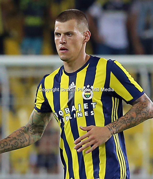 UEFA Europa league Playoff first leg match between Fenerbahce and Grasshoppers at Ulker Stadium in Istanbul on August 18 , 2016.<br /> Pictured: Martin Skrtel of Fenerbahce .