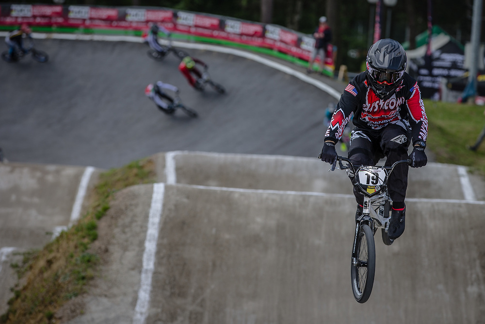 #19 (POSEY Justin) USA during round 4 of the 2017 UCI BMX  Supercross World Cup in Zolder, Belgium.