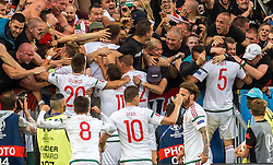 14.06.2016, Stade de Bordeaux, Bordeaux, FRA, UEFA Euro, Frankreich, Oesterreich vs Ungarn, Gruppe F, im Bild Torjubel Ungarn nach dem 2:1, // Goalcelebration Hungary after the second Goal during Group F match between Austria and Hungary of the UEFA EURO 2016 France at the Stade de Bordeaux in Bordeaux, France on 2016/06/14. EXPA Pictures © 2016, PhotoCredit: EXPA/ JFK