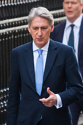 London, March 10th 2015. Ministers arrive at the weekly cabinet meeting at 10 Downing Street. PICTURED: Philip Hammond, Foreign Secretary