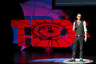 Chris Wire speaks during TEDx Dayton at the Victoria Theatre in downtown Dayton, Friday, November 15, 2013.  TEDx Dayton is a localized version, and uses a format similar to national TED (Technology, Entertainment, Design) events.