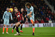Chelsea Defender, David Luis (30) makes a clearance  during the Premier League match between Bournemouth and Chelsea at the Vitality Stadium, Bournemouth, England on 30 January 2019.