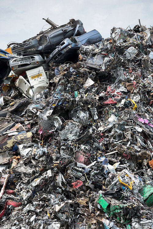 Metal recycling of cars, autos and scrap metal to avoid environmental pollution in England