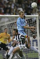 CHARLEROI 04/09/2004 / <br /> SPORT / FOOTBALL / VOETBAL<br /> STADE DU PAYS DE CHARLEROI<br /> CHARLEROI - CLUB BRUGGE<br /> RUNE LANGE