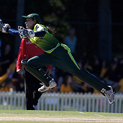 Batool Fatima collects a wild throw while wicket keeping for Pakistan during the match between Australia and Pakistan in the Super 6 stage of the ICC Women's World Cup Cricket tournament at Bankstown Oval, Sydney, Australia on March 16 2009, Australia won the match by 107 runs. Photo Tim Clayton
