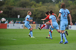 Bristol Academy Womens' Laura Del Rio Garcia takes a shot at goal. - Photo mandatory by-line: Dougie Allward/JMP - Mobile: 07966 386802 - 28/09/2014 - SPORT - Women's Football - Bristol - SGS Wise Campus - Bristol Academy Women's v Manchester City Women's - Women's Super League