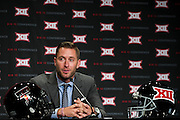 DALLAS, TX - JULY 21:  Texas Tech head coach Kliff Kingsbury speaks during the Big 12 Media Day on July 21, 2014 at the Omni Hotel in Dallas, Texas.  (Photo by Cooper Neill/Getty Images) *** Local Caption *** Kliff Kingsbury