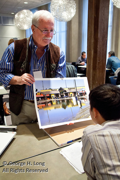 New Orleans Photo Alliance's PhotoNOLA portfolio review session at the International House Hotel conference facility