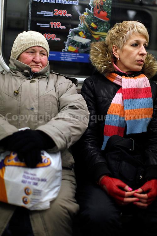 in the metro, Kiev // dans le metro; Kiev