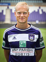Anderlecht's Olivier Deschacht pictured during the 2015-2016 season photo shoot of Belgian first league soccer team RSC Anderlecht, Tuesday 14 July 2015 in Brussels.