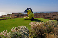 """Untitled (Lamp/Bear)"" by Urs Fischer, Andy Warhol's former home. 406 Old Montauk Hwy, Montauk,  New York"