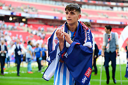 Free to use courtesy of Sky Bet. Tom Bayliss of Coventry City celebrates after winning the Sky Bet League Two play-off final  - Mandatory by-line: Dougie Allward/JMP - 28/05/2018 - FOOTBALL - Wembley Stadium - London, England - Coventry City v Exeter City - Sky Bet League Two Play-off Final