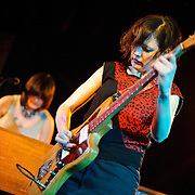 WASHINGTON, D.C. - March 10th, 2011: Mary Timony and Rebecca Cole of WIld Flag perform at the Black Cat in Washington, D.C. The band consists of former members of Sleater-Kinney, Helium and The Minders and will record and release their debut album later this year.   (Photo by Kyle Gustafson/For The Washington Post)
