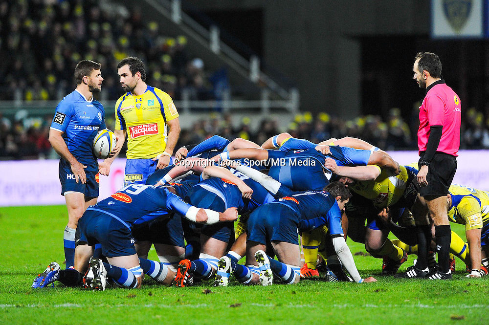 Morgan Parra / Rory Kockott  - 20.12.2014 - Clermont / Castres - 13eme journee de Top 14 -<br /> Photo : Jean Paul Thomas / Icon Sport