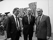 19/08/1988<br /> 08/19/1988<br /> 19 August 1988<br /> Opening of ROSC '88 at the Guinness Hop Store, Dublin. At the exhibition were: Harry Byrne, Financial Director, Guinness Ireland; President Patrick Hillery  who officially opened the exhibition and  Patrick Murphy, ROSC Chairman.