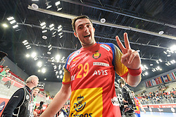 Arino Aitor of Spain after handball match between National teams of Germany and Spain on Day 7 in Main Round of Men's EHF EURO 2018, on January 24, 2018 in Arena Varazdin, Varazdin, Croatia. Photo by Mario Horvat / Sportida