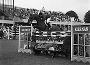 "08/08/1987<br /> 08/08/1987<br /> 08 August 1987<br /> RDS Horse Show, Ballsbridge, Dublin. The Irish Trophy - Grand Prix of Ireland. Armand Leone (Australia) on ""Lassandro""."
