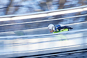Poland, Wisla Malinka - 2017 November 19: Jakub Wolny from Poland slides on the hill while Men&rsquo;s Individual HS134 competition during FIS Ski Jumping World Cup Wisla 2017/2018 - Day 3 at jumping hill of Adam Malysz on November 19, 2017 in Wisla Malinka, Poland.<br /> <br /> Mandatory credit:<br /> Photo by &copy; Adam Nurkiewicz<br /> <br /> Adam Nurkiewicz declares that he has no rights to the image of people at the photographs of his authorship.<br /> <br /> Picture also available in RAW (NEF) or TIFF format on special request.<br /> <br /> Any editorial, commercial or promotional use requires written permission from the author of image.