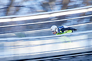 Poland, Wisla Malinka - 2017 November 19: Jakub Wolny from Poland slides on the hill while Men's Individual HS134 competition during FIS Ski Jumping World Cup Wisla 2017/2018 - Day 3 at jumping hill of Adam Malysz on November 19, 2017 in Wisla Malinka, Poland.<br /> <br /> Mandatory credit:<br /> Photo by © Adam Nurkiewicz<br /> <br /> Adam Nurkiewicz declares that he has no rights to the image of people at the photographs of his authorship.<br /> <br /> Picture also available in RAW (NEF) or TIFF format on special request.<br /> <br /> Any editorial, commercial or promotional use requires written permission from the author of image.