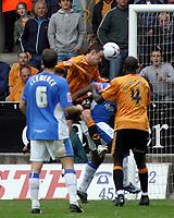 Photo: Paul Thomas.<br /> Wolverhampton Wanderers v Birmingham City. Coca Cola Championship. 22/04/2007.<br /> <br /> Michael McIndoe scores for Wolves.