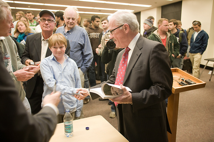 The sheer joy of shaking hands with Libertarian Party Presidential candidate Bob Barr at Duke University, Tues., Oct. 28, 2008.