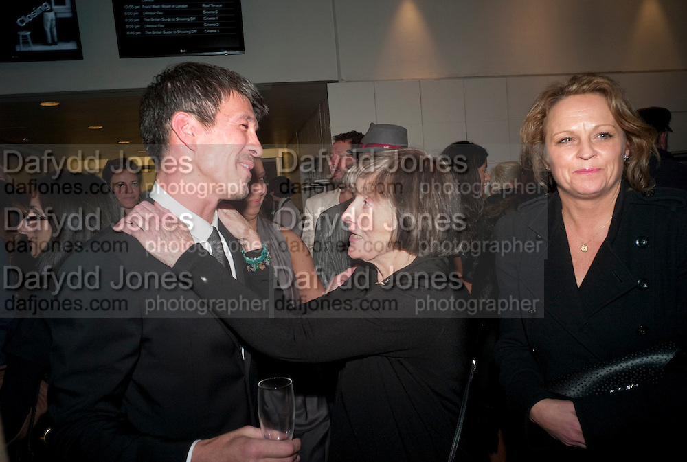 ALEX TURNBULL; KATERINA WOLPE, Vanity Fair  hosted  UK Premiere and party for Beyond Time. A film about the artist William Turnbull made by his son Alex Turnbull. Narrated by Jude Law. I.C.A. London. 17 November 2011<br /> <br />  , -DO NOT ARCHIVE-© Copyright Photograph by Dafydd Jones. 248 Clapham Rd. London SW9 0PZ. Tel 0207 820 0771. www.dafjones.com.