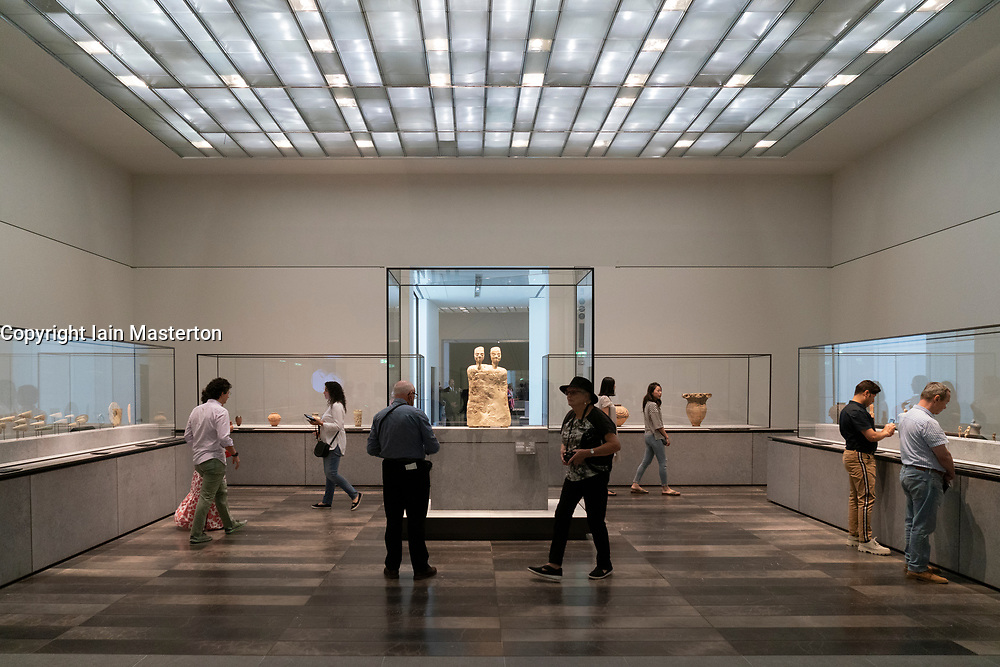 Interior of the Louvre Abu Dhabi at Saadiyat Island Cultural District in Abu Dhabi, UAE. Architect Jean Nouvel