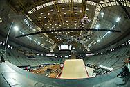 Jake Brown during Skate Big Air Practice at the 2013 X Games Barcelona in Barcelona, Spain. ©Brett Wilhelm/ESPN