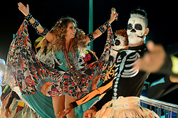 Singer Daniela Mercury takes part in the Carnival parade in Salvador, Bahia state, Brazil, on Feb. 13, 2015. EXPA Pictures © 2015, PhotoCredit: EXPA/ Photoshot/ [e]ae<br /> <br /> *****ATTENTION - for AUT, SLO, CRO, SRB, BIH, MAZ only*****