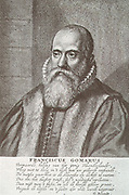 Franciscus Gomarus (1563 - 1641), professor of theology at Leiden, the doctrine of predestination, His work led to great divisions in the Netherlands and led to lengthy ecclesiastical disputes.