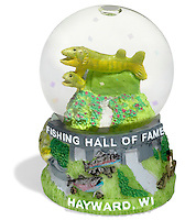fish snow globe from the fishing hall of fame