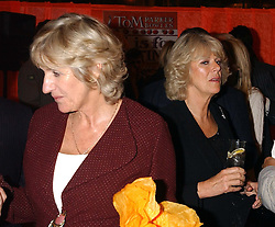 CAMILLA PARKER BOWLES and her sister ANNABEL ELLIOT at a party to celebrate the publication of 'E is for Eating' by Tom Parker Bowles held at Kensington Place, 201 Kensington Church Street, London W8 on 3rd November 2004.<br />