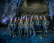 Underground team for tunnelling operation at BC Hydro Dam Project