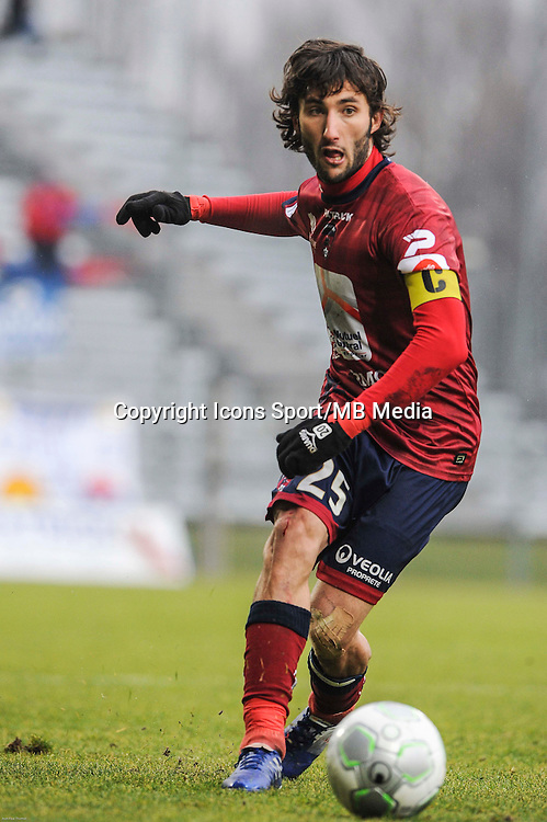 Anthony LIPPINI - 24.01.2015 - Clermont / Chateauroux  - 21eme journee de Ligue2<br />