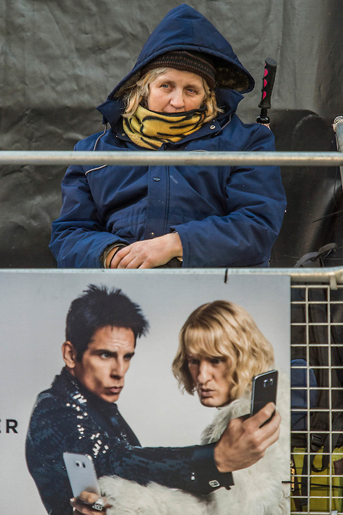 Disabled fans await the stars - Paramount Pictures Presents A 'Fashionable' Screening of Zoolander No.2  - the sequel directed by and starring Ben Stiller.