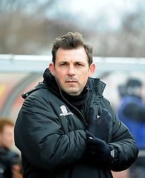 Gateshead's assistant manager, Darren Caskey - Photo mandatory by-line: Neil Brookman/JMP - Mobile: 07966 386802 - 28/02/2015 - SPORT - Football - Gateshead - Gateshead International Stadium - Gateshead v Bristol Rovers - Vanarama Football Conference