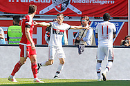 Robert Lewandowski of Bayern Munich celebrates scoring his second goal during the Bundesliga match at Audi Sportpark, Ingolstadt<br /> Picture by EXPA Pictures/Focus Images Ltd 07814482222<br /> 07/05/2016<br /> ***UK &amp; IRELAND ONLY***<br /> EXPA-EIB-160507-0070.jpg
