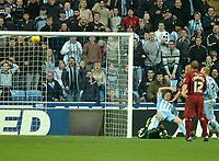 Photo: Ed Godden.<br />Coventry City v Brighton & Hove Albion. Coca Cola Championship. 04/02/2006. <br />Dennis Wise scores for Coventry to make it 2-0.