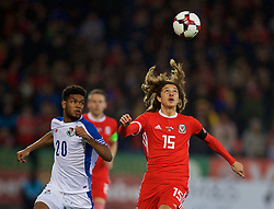 CARDIFF, WALES - Tuesday, November 14, 2017: Wales' Ethan Ampadu during the international friendly match between Wales and Panama at the Cardiff City Stadium. (Pic by David Rawcliffe/Propaganda)
