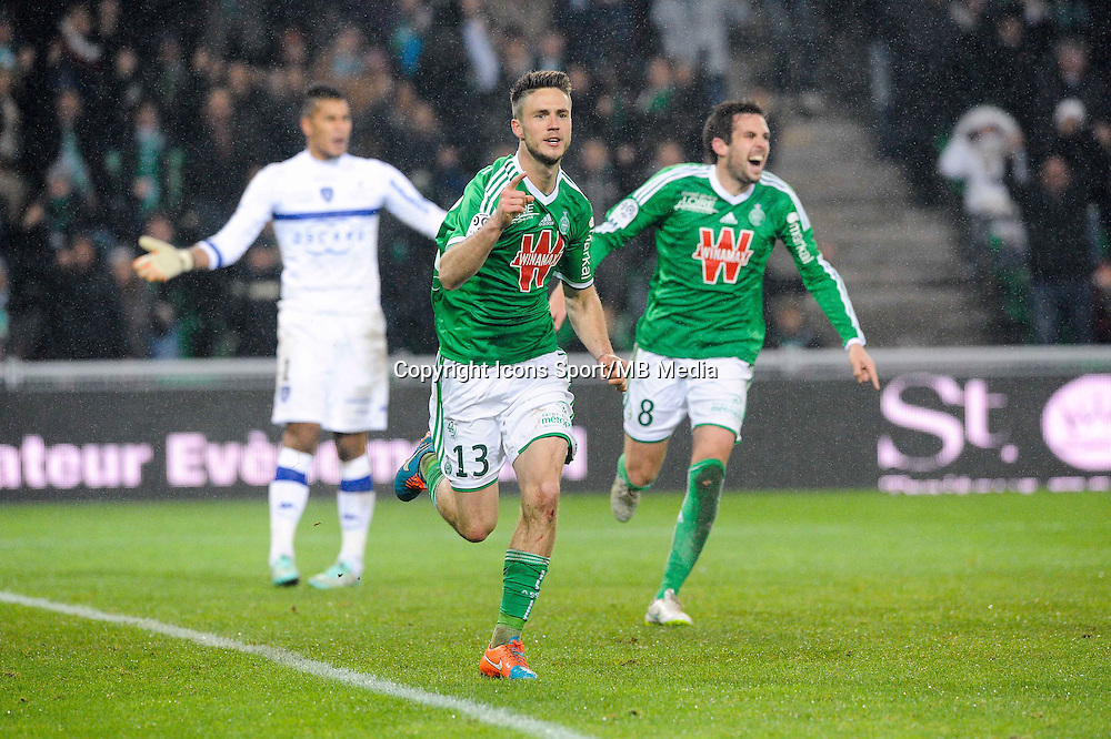 Joie Ricky VAN WOLFSWINKEL - 06.12.2014 - Saint Etienne / Bastia - 17eme journee de Ligue 1 -<br />Photo : Jean Paul Thomas / Icon Sport