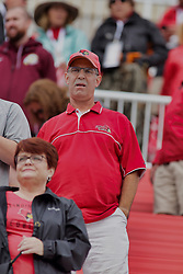 NORMAL, IL - October 06:  Ron Krueger during a college football game between the ISU (Illinois State University) Redbirds and the Western Illinois Leathernecks on October 06 2018 at Hancock Stadium in Normal, IL. (Photo by Alan Look)