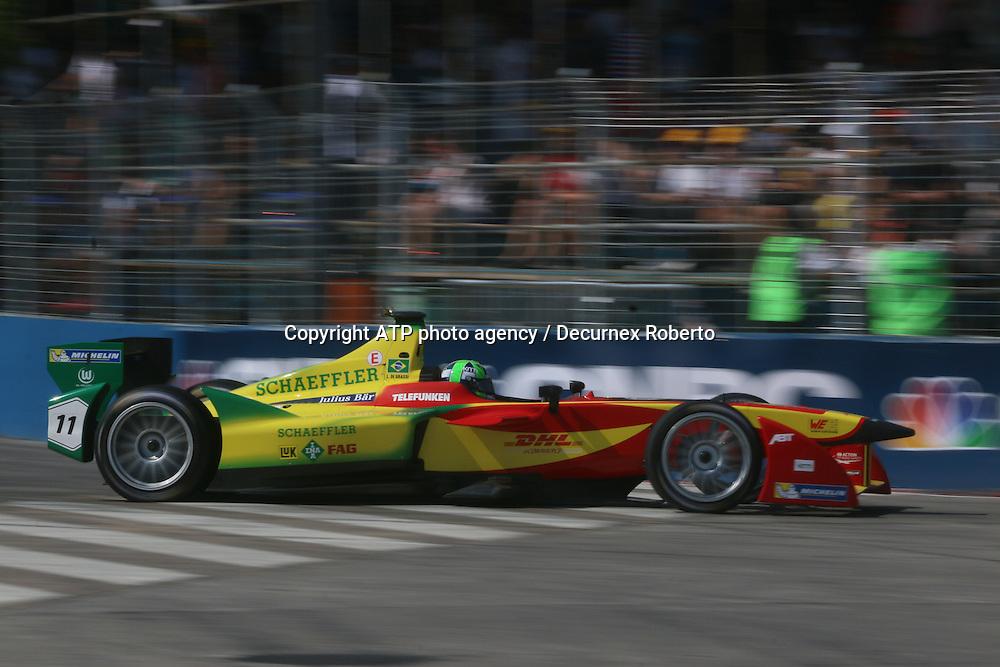 Lucas di Grassi, (BRA), Audi Sport ABT<br /> Buenos Aires; January 10th 2015, E-Prix, FIA Formula E, <br /> fee liable image, copyright@ ATP Decurnex Roberto