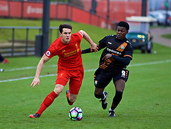 KIRKBY, ENGLAND - Tuesday, January 10, 2017: Liverpool's Jordan Williams in action against Barnet during an Under-23 friendly match at the Kirkby Academy. (Pic by David Rawcliffe/Propaganda)