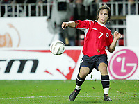 Fotball / Soccer<br /> Play off VM 2006 / Play off World Champio0nships 2006<br /> Tsjekkia v Norge 1-0<br /> Czech Republic v Norway 1-0<br /> Agg: 2-0<br /> 16.11.2005<br /> Foto: Morten Olsen, Digitalsport<br /> <br /> Kristofer Hæstad - Start