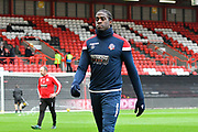 Clayton Donaldson (8) of Bolton Wanderers warming up during the EFL Sky Bet Championship match between Bristol City and Bolton Wanderers at Ashton Gate, Bristol, England on 12 January 2019.
