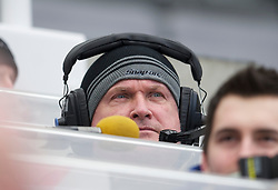 NEWCASTLE, ENGLAND - Saturday, March 5, 2011: BBC Radio Merseyside and former Everton player Ronnie Goodlass during the Premiership match between Newcastle United and Everton at St. James' Park. (Photo by David Rawcliffe/Propaganda)