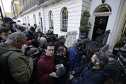 © Licensed to London News Pictures. 24/06/2016. London, UK. The media wait outside Boris Johnson's home after the UK EU referendum result was announced with a victory for the leave campaign. Photo credit: Peter Macdiarmid/LNP