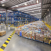 Interior of a storage warehouse