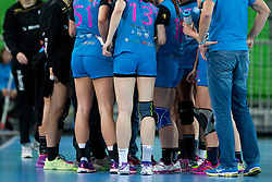 During handball match between RK Krim Mercator (SLO) and Rostov-Don (RUS) in 6th Round of Women's EHF Champions League 2015/16, on November 20, 2015 in Arena Stozice, Ljubljana, Slovenia. Photo by Urban Urbanc / Sportida